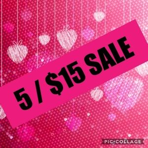 💖 All Items listed $5 are 5/$15!💖